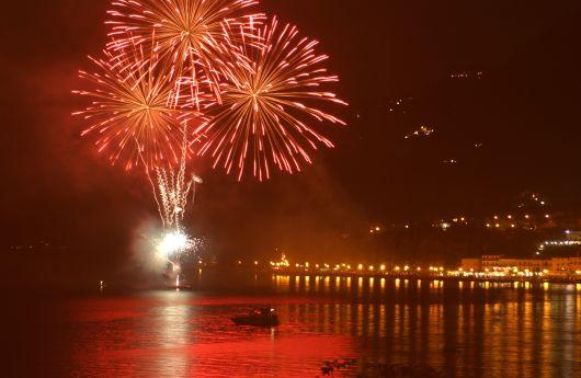 Fireworks in Salò